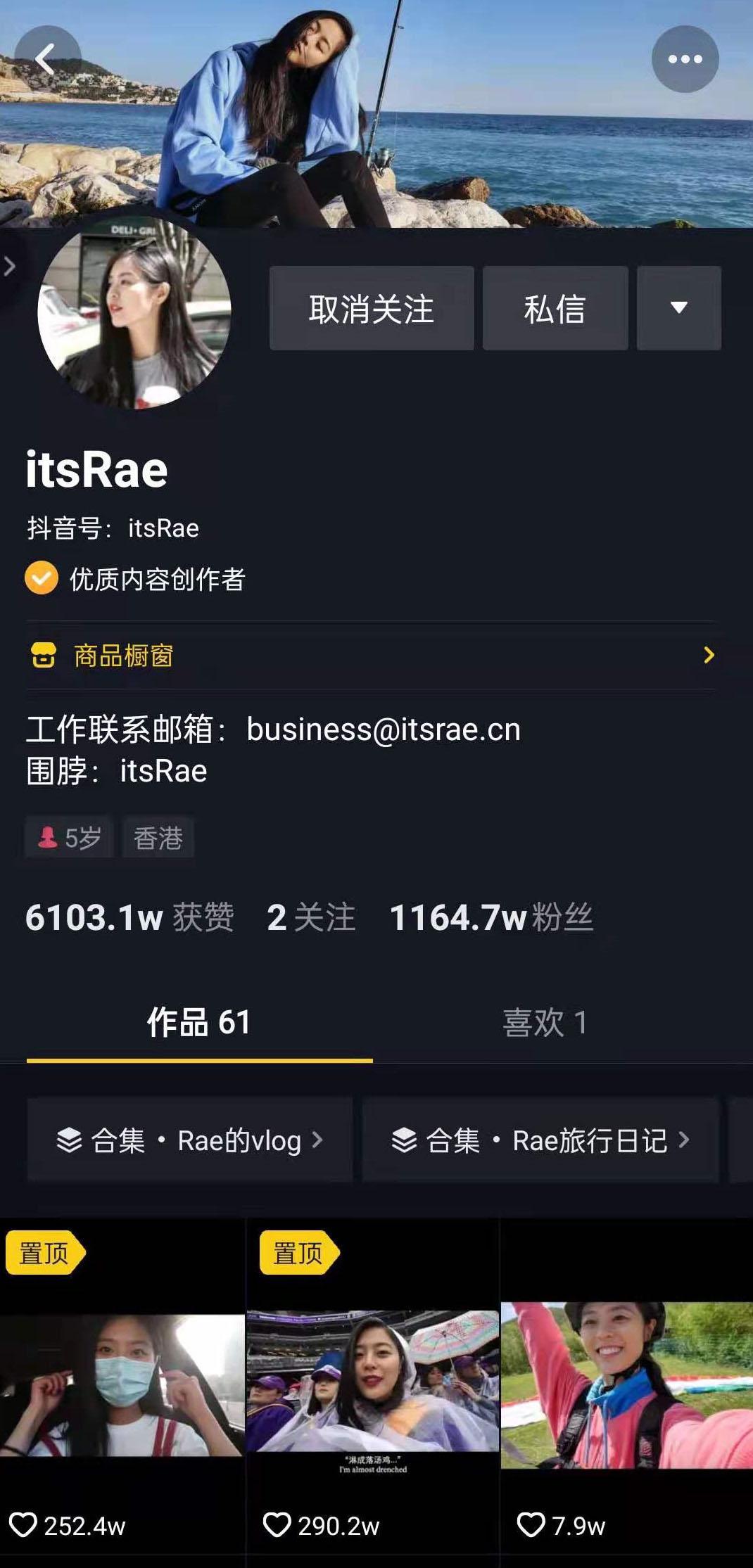 "千万粉丝的vlogger""itsRae""抄袭?"